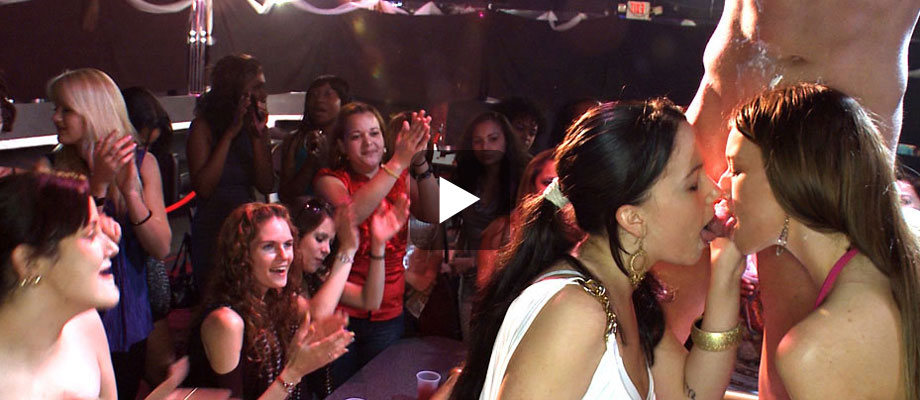 Drunk American Chicks Interact With Male Strippers, View Now!